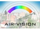 Логотип Air-vision, торгово-монтажная компания